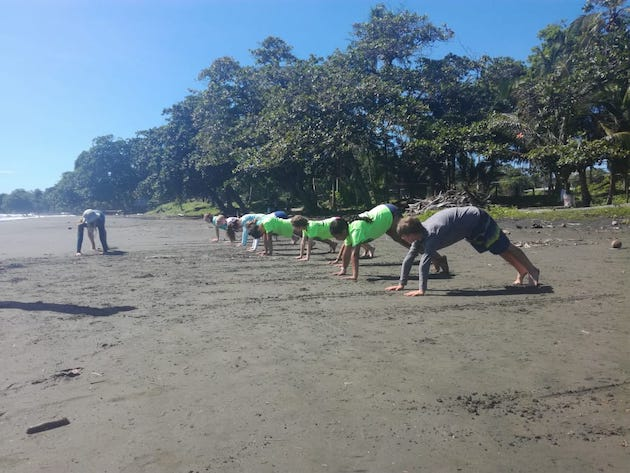 Students on Costa Rica Beach in Tropical Climate